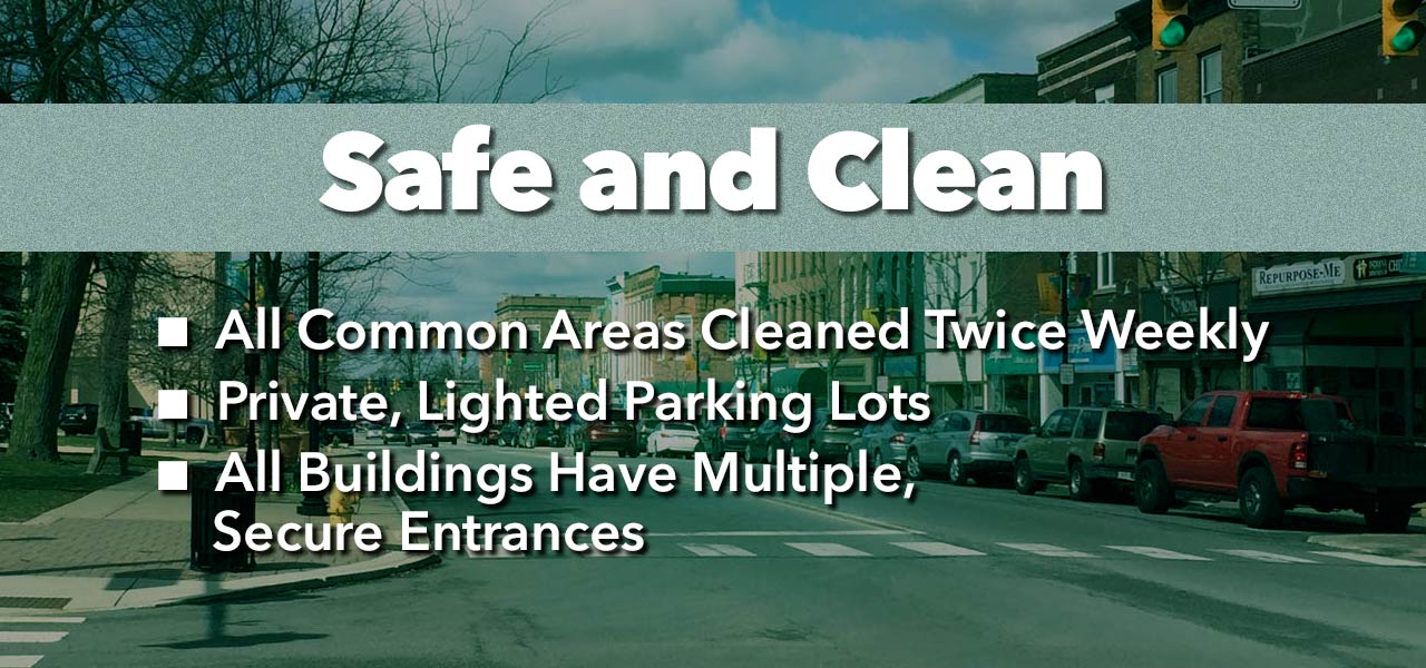 Valpo Partners, Properties Safe and Clean